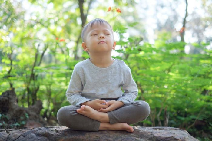child meditating toddler boy mindfulness